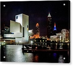 The Night Rocks In Cleveland Acrylic Print