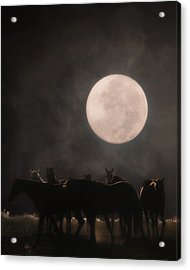 The Night Shift Acrylic Print by Ron  McGinnis