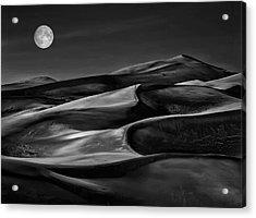 The Night Walked Down The Sky ... Acrylic Print