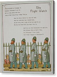 The Night Watch. Four Policeman Acrylic Print by British Library