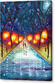 The Night We Fell In Love Acrylic Print by Jessilyn Park