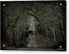 Acrylic Print featuring the digital art The Nightmare by Davandra Cribbie