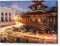 The Nights Of Stunning Kathmandu Acrylic Print