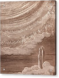 The Ninth Heaven Acrylic Print by Gustave Dore