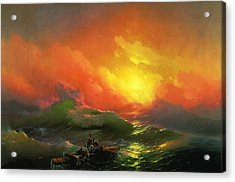 The Ninth Wave 1850 By Aivazovsky Acrylic Print by Movie Poster Prints