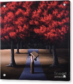Acrylic Print featuring the painting The Noble Art Of Thinking Outside Of The Box by Ric Nagualero