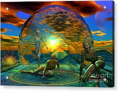 The Nomads Acrylic Print by Shadowlea Is