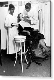 The North Harlem Dental Clinic Acrylic Print by Underwood Archives