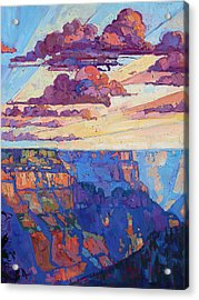 The North Rim Hexaptych - Panel 5 Acrylic Print by Erin Hanson
