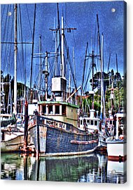 The Northern Sea Fishing Boat Acrylic Print