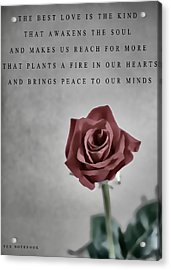 The Notebook Love Quote Acrylic Print