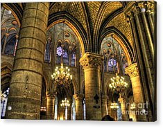 The Notre Dame Archs Acrylic Print by Ines Bolasini