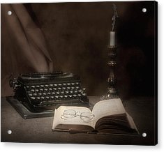 The Novelist Still Life Acrylic Print