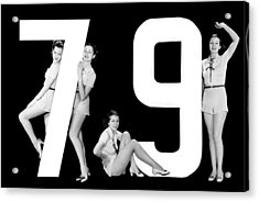 The Number 79 And Four Women Acrylic Print