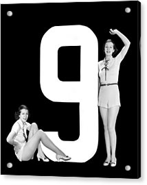 The Number 9 And Two Women Acrylic Print