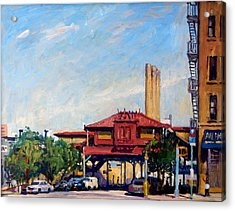 The Number One Train 215th Street Station Nyc Acrylic Print by Thor Wickstrom