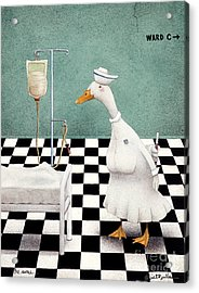 The Nurse... Acrylic Print by Will Bullas
