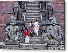 The Nyatapola Temple At Bhaktapur In Nepal Acrylic Print by Robert Preston