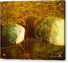 The Oak Tree-original Sold-buy Giclee Print Nr 31 Of Limited Edition Of 40 Prints  Acrylic Print