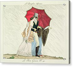 The Obliging Umbrella Acrylic Print by French School