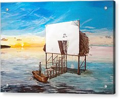 The Occult Listen With Music Of The Description Box Acrylic Print by Lazaro Hurtado