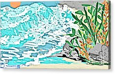 The Ocean Blues Acrylic Print by Sherry  Hatcher
