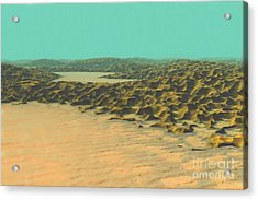 Acrylic Print featuring the painting The Ocean Is A Desert by Pet Serrano