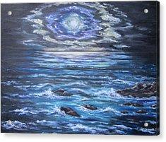 The Ocean Sings The Sky Listens 2 Acrylic Print by Cheryl Pettigrew