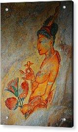 The Ode For The Women Beauty. Sigiriyan Lady With Flowers. Sigiriya. Sri Lanka Acrylic Print