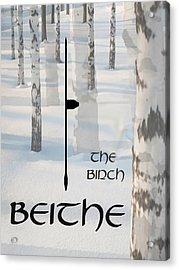 The Ogham Beithe Celtic Symbol Acrylic Print