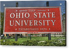 The Ohio State University Acrylic Print by David Bearden