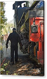 The Oil Can Acrylic Print by Steven Parker