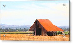 The Old Barn 5d24404 Long Acrylic Print by Wingsdomain Art and Photography