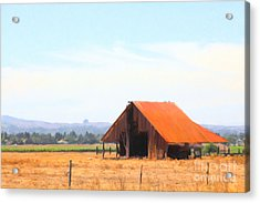 The Old Barn 5d24404 Acrylic Print by Wingsdomain Art and Photography