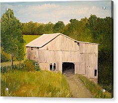 Acrylic Print featuring the painting The Old Barn by Alan Lakin