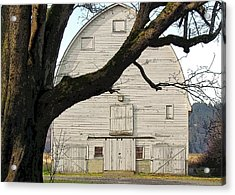 Acrylic Print featuring the photograph The Old Barn by I'ina Van Lawick