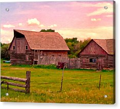 The Old Barn Acrylic Print by Michael Pickett