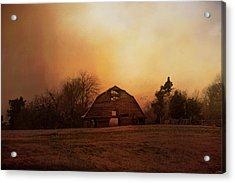 The Old Barn On A Fall Evening Acrylic Print by Jai Johnson