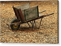 The Old Barn Wagon Acrylic Print