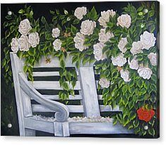 The Old Bench Acrylic Print