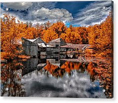 The Old Boat House Acrylic Print by Bob Orsillo