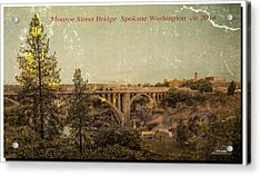 The Old Bridge Acrylic Print by Dan Quam