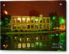 The Old Carriage House Building In Downtown Greenville Sc Acrylic Print