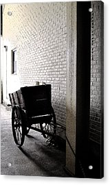Acrylic Print featuring the photograph The Old Cart From The Series View Of An Old Railroad by Verana Stark