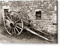 The Old Cart Acrylic Print by Olivier Le Queinec