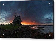 The Old Church On The Coast Of White Sea Acrylic Print
