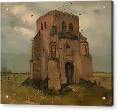The Old Church Tower At Neunen Acrylic Print by Mountain Dreams