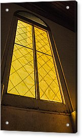 Acrylic Print featuring the photograph The Old Church Window  by Naomi Burgess