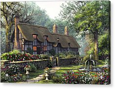 The Old Cottage Acrylic Print by Dominic Davison