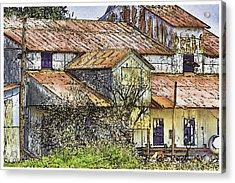 The Old Cotton Barn Acrylic Print by Barry Jones